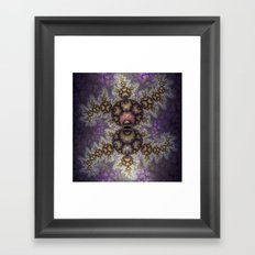 Magic in the air, fractal pattern abstract Framed Art Print
