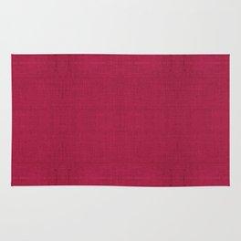 """Rose fuchsia Burlap Texture (Pattern)"" Rug"