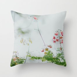 flower photography by chuttersnap Throw Pillow