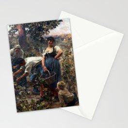 Léon Augustin Lhermitte The Grape Harvest Stationery Cards