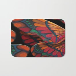 """A thousand colors of butterfly wings"" Bath Mat"