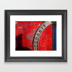 Toronto Bicycle Ring Framed Art Print