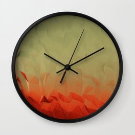 low poly gradient Wall Clock
