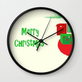 Gifts Under the Tree Wall Clock