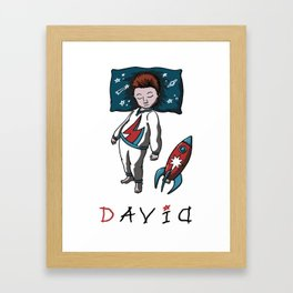 Sleeping artist DAVID Framed Art Print