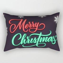 Merry Christmas - Neon Rectangular Pillow