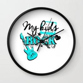 My Kids Rock Guitar Wall Clock