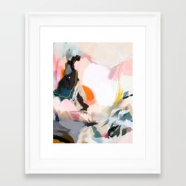 apricot dawn Framed Art Print