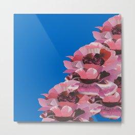 BLUE ROSE GARDEN Metal Print