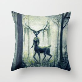 Forest Guardian Throw Pillow