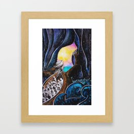 Beyond the Sea of Darkness Framed Art Print