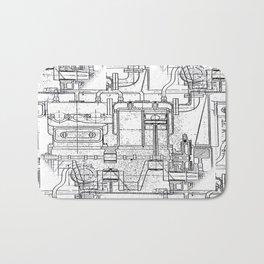 Engineered Sketch Bath Mat