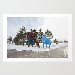 Paul + Babe Art Print