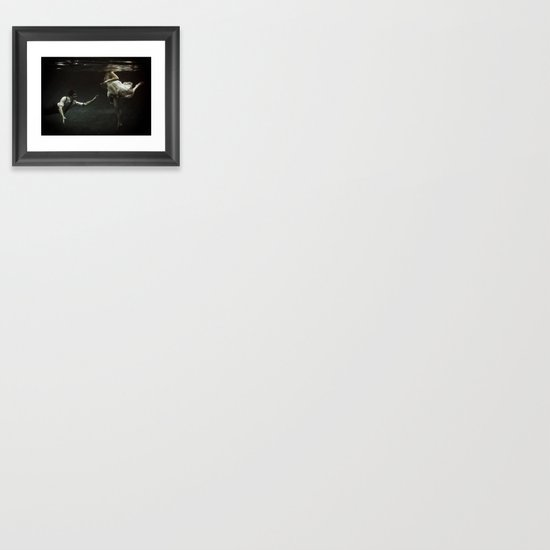 abyss of the disheartened : X Framed Art Print