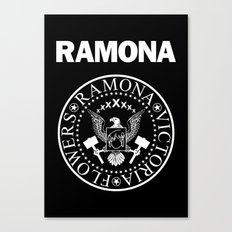 Ramona - Black Canvas Print