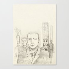Cubic heads Canvas Print
