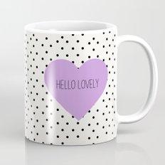 Hello Lovely Purple Heart Mug
