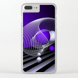 go violet -16- Clear iPhone Case