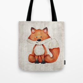 Little Fox, Baby Fox, Baby Animals, Forest Critters, Woodland Animals, Nursery Art Tote Bag
