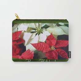 Mixed Color Poinsettias 2 Happy Holidays P1F1 Carry-All Pouch