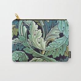 William Morris Herbaceous Italian Laurel Acanthus Textile Floral Leaf Print  Carry-All Pouch