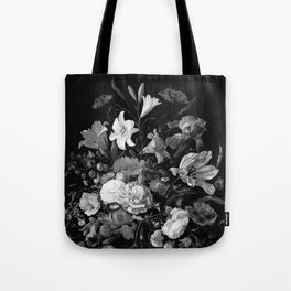 Still Life #2 Black & White Tote Bag
