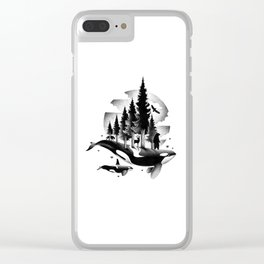 GREETINGS FROM THE PACIFIC NORTHWEST Clear iPhone Case