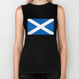 Flag of Scotland - High quality image Biker Tank