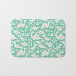 Delightful Dinos (teal) Bath Mat