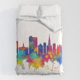 Novi Sad Serbia Skyline Comforters