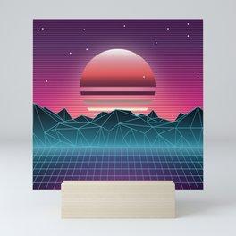 Sunset Vaporwave Aesthetic Mini Art Print
