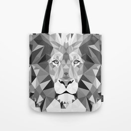 Large Silver Lion Head Tote Bag