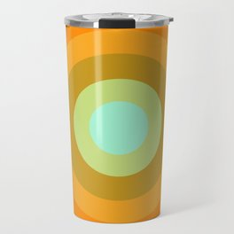 Slammin' - retro vibes 1970s style throwback bullseye circle infinity 70's Travel Mug