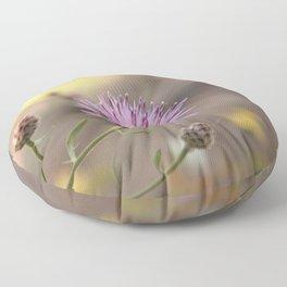 Purple Flowers Vintage on the Beach Floor Pillow