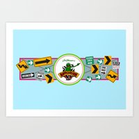 muppet Art Prints featuring Muppet*Vision 3D Billboard by Rob Yeo Design