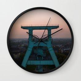 zeche bochum sunset aerial view drone Wall Clock