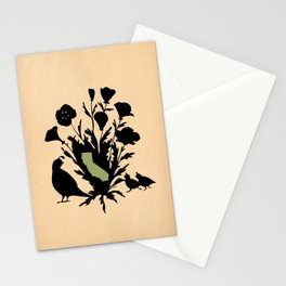 California - State Papercut Print Stationery Cards