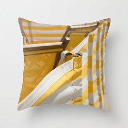 Yellow Summer Throw Pillow