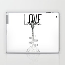 LOVE TO THE MOON AND BACK Laptop & iPad Skin