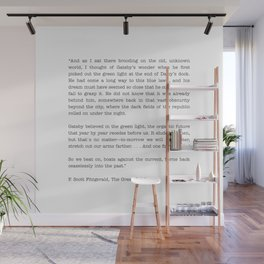 The Great Gatsby Last Page Quote Wall Mural