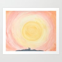moomin Art Prints featuring Sunset in Moomin Valley by Hawk&Handsaw