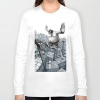 furry Long Sleeve T-shirts featuring Furry Fingers by Jason Tirendi