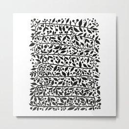black leafes print Metal Print