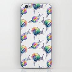 Rainbow Crystal Clear Snails iPhone & iPod Skin