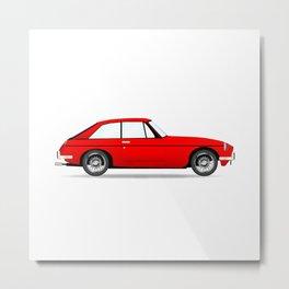 Sports Car Coupe Metal Print