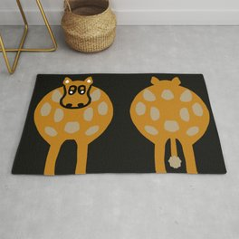 Humorous Cow - Both Ends Rug