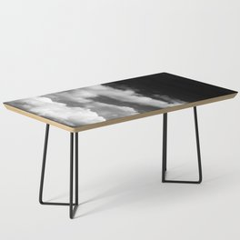 Clouds in black and white Coffee Table