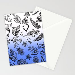 Milagros Dip Dye Blue Stationery Cards