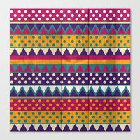 mexican Canvas Prints featuring Mexican Pattern by Eleaxart