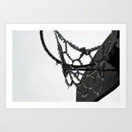 Frozen Hoop Art Print